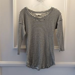 Rebecca Taylor Striped Jersey Tee